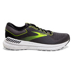 Brooks Men's Transcend 7 Running Shoes Black / Ebony / Nightlife - achilles heel