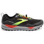 Brooks Men's Cascadia 15 Trail Running Shoes Black / Raven / Cherry Tomato - achilles heel
