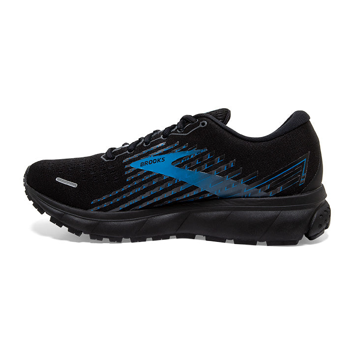 Brooks Men's Ghost 13 GORE-TEX Running Shoes Black / Grey / Blue - achilles heel