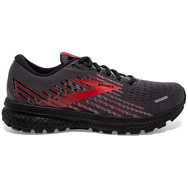 Brooks Men's Ghost 13 GORE-TEX Running Shoes Black / Ebony / Red - achilles heel