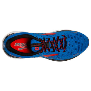Brooks Men's Ghost 13 Running Shoes Blue / Red / White - achilles heel
