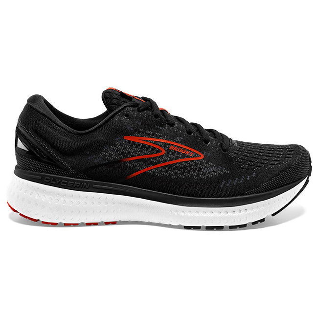 Brooks Men's Glycerin 19 Running Shoes Black / Grey / Clay Red - achilles heel