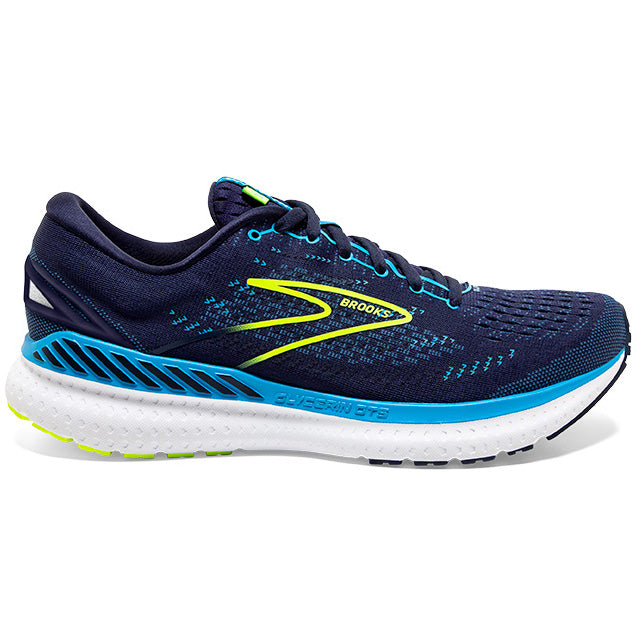 Brooks Men's Glycerin GTS 19 Running Shoes Navy / Blue / Nightlife - achilles heel