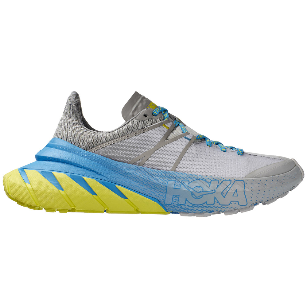 Hoka TenNine Trail Running Shoes Drizzel / Lunar Rock - achilles heel