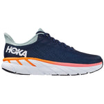 Hoka Women's Clifton 7 D Width Running Shoes Black Iris / Blue Haze - achilles heel