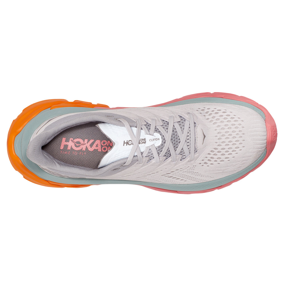 Hoka Men's Clifton Edge Running Shoes Nimbus Cloud / Lunar Rock - achilles heel