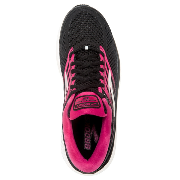 Brooks Women's Addiction 13 Running Shoes Black / Pink / Grey - achilles heel