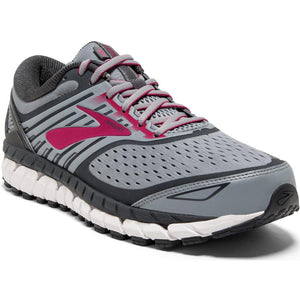 Brooks Women's Ariel 18 Running Shoes Grey / Grey / Pink - achilles heel