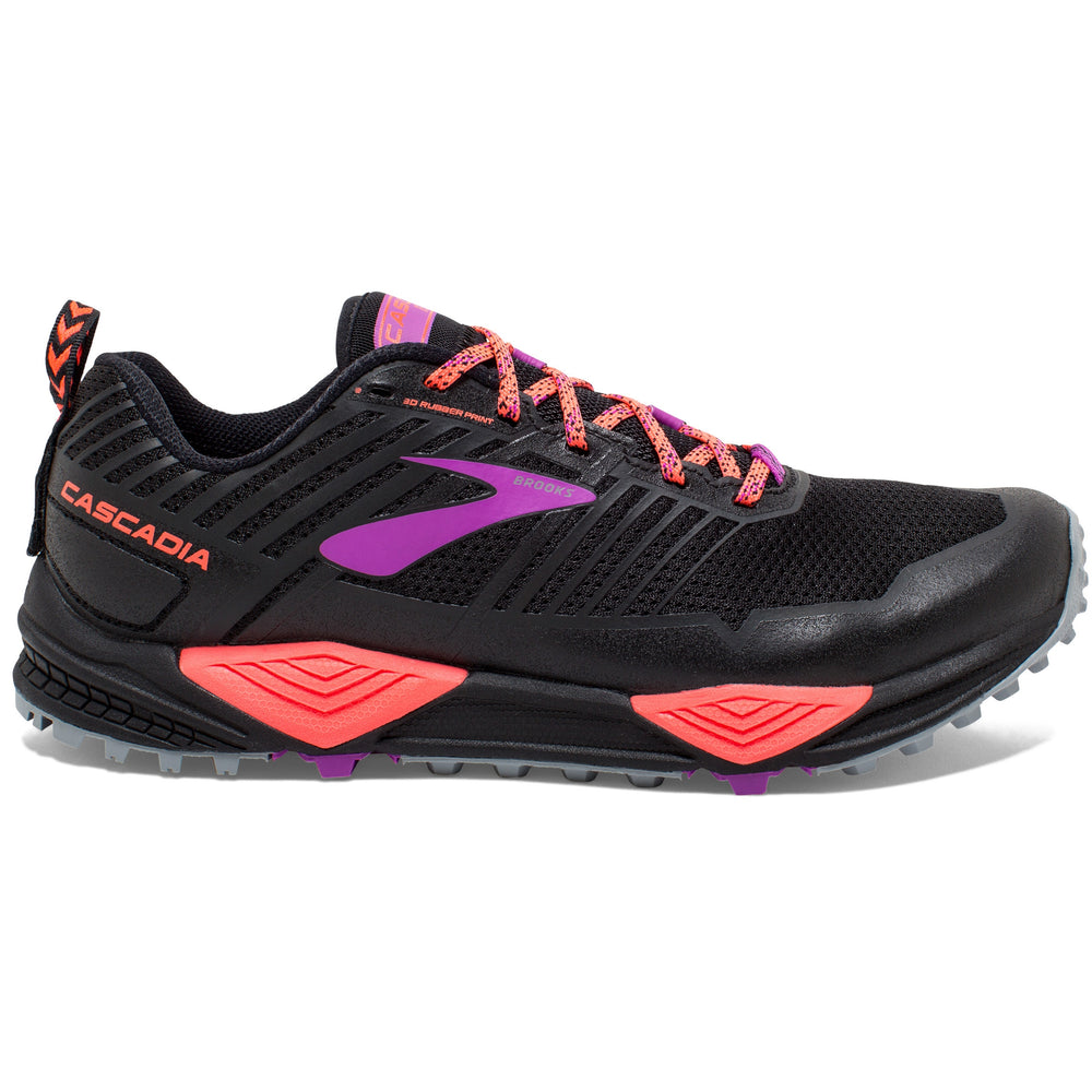 Brooks Women's Cascadia 13 Trail Running Shoes Black / Coral / Purple