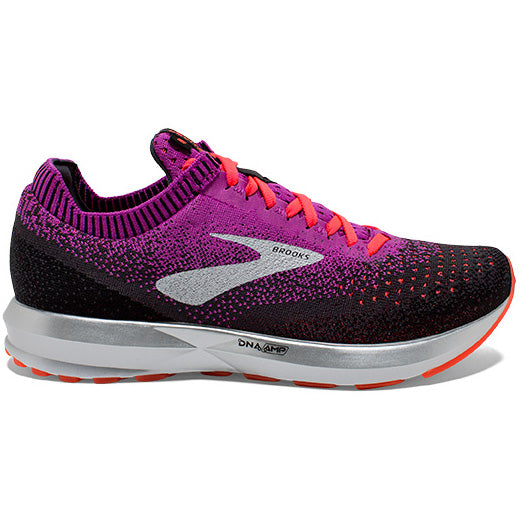 Brooks Women's Levitate 2 Running Shoes Purple / Fiery Coral / Black - achilles heel