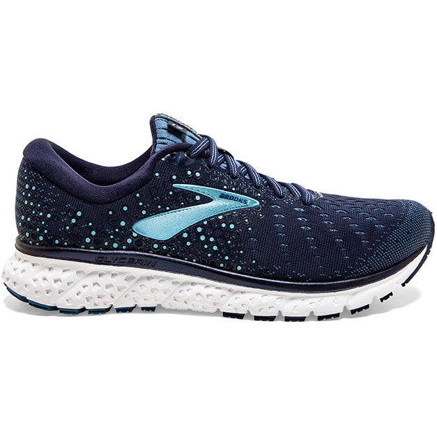 Brooks Women's Glycerin 17 Running Shoes Navy / Stellar / Blue - achilles heel