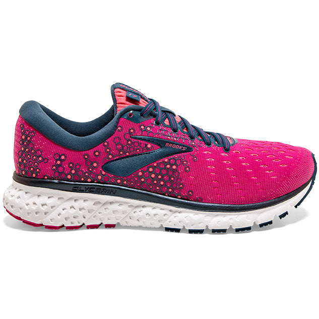 Brooks Women's Glycerin 17 Running Shoes Beetroot / Pink / Blue - achilles heel
