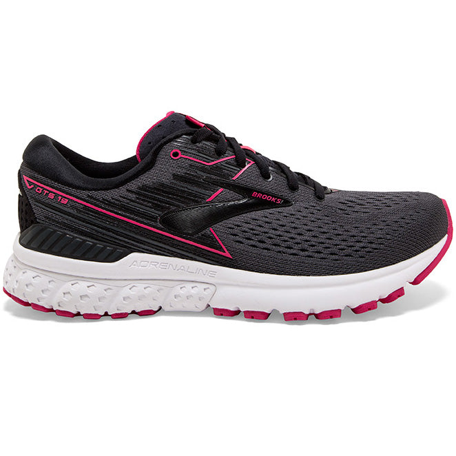 Brooks Women's Adrenaline GTS 19 Running Shoes Black / Ebony / Pink