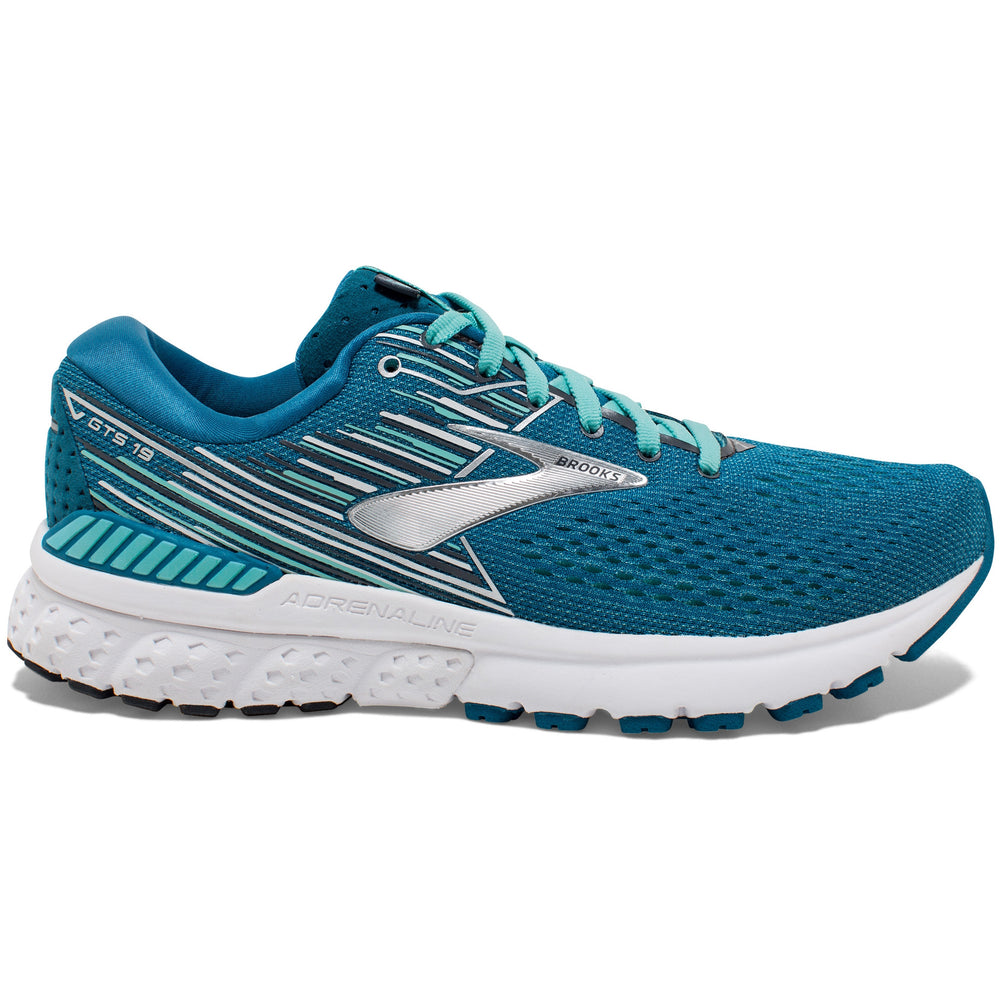 Brooks Women's Adrenaline GTS 19 Running Shoes Blue / Aqua / Ebony