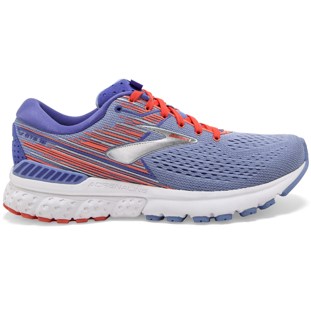 Brooks Women's Adrenaline GTS 19 Running Shoes Bell Air Blue / Coral / Silver