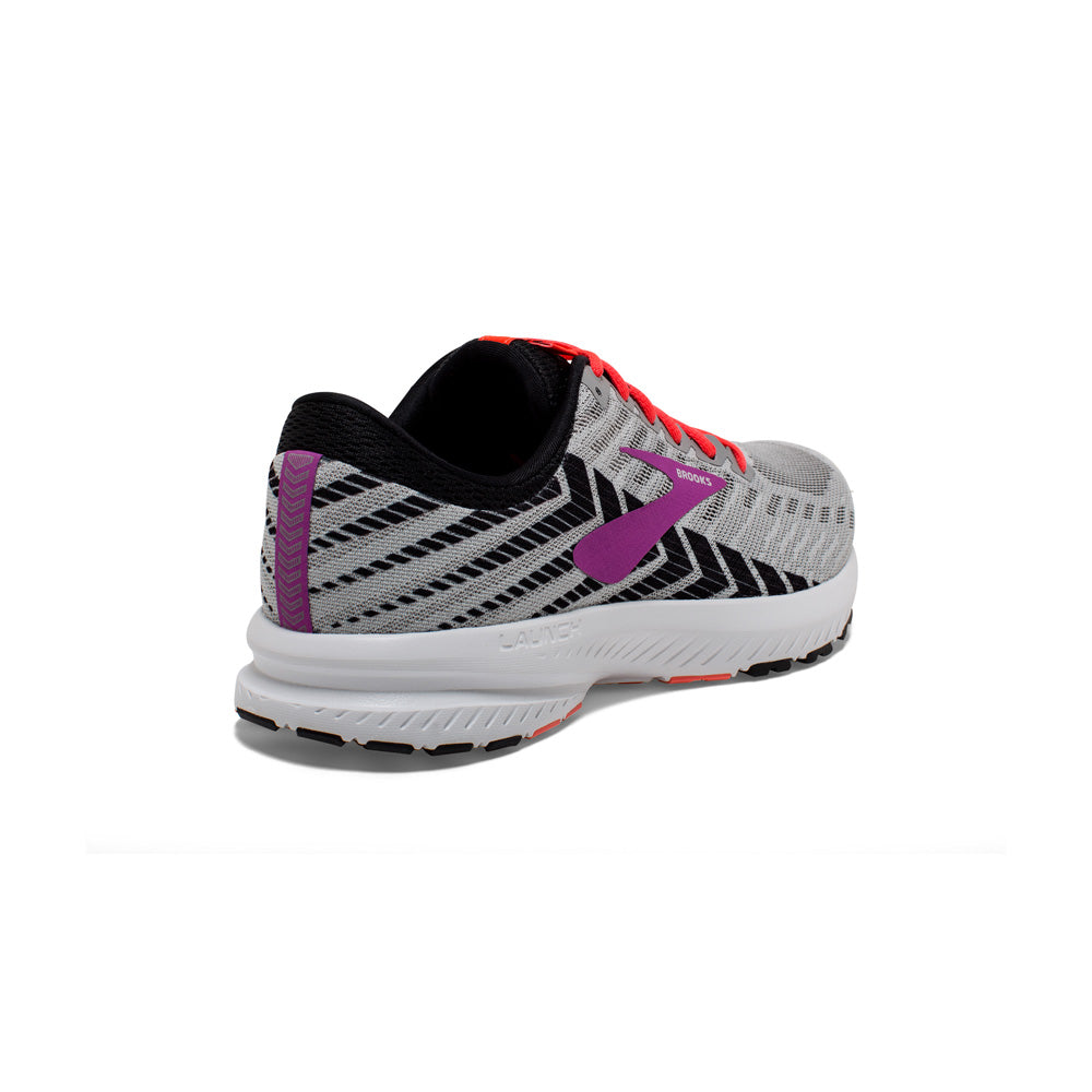 Brooks Women's Launch 6 Running Shoes Grey / Purple - achilles heel