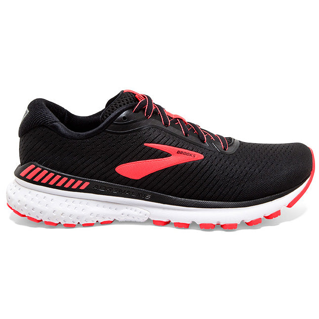 Brooks Women's Adrenaline GTS 20 Running Shoes Black / Coral / White - achilles heel