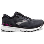 Brooks Women's Adrenaline GTS 20 Running Shoes Black / White / Hollyhock - achilles heel