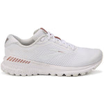 Brooks Women's Adrenaline GTS 20 Running Shoes White / Rose Gold - achilles heel
