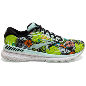 Brooks Women's Adrenaline GTS 20 Tropical Running Shoes Sea / Black / Green - achilles heel