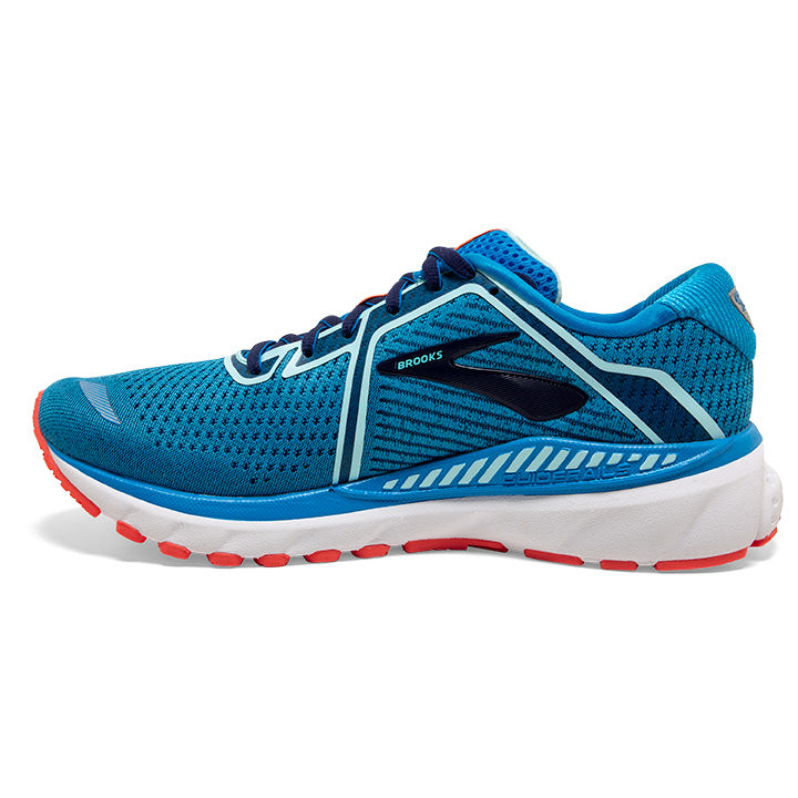 Brooks Women's Adrenaline GTS 20 Running Shoes Blue / Navy / Coral - achilles heel