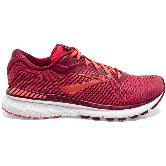 Brooks Women's Adrenaline GTS 20 Running Shoes Rumba Red / Teaberry / Coral - achilles heel