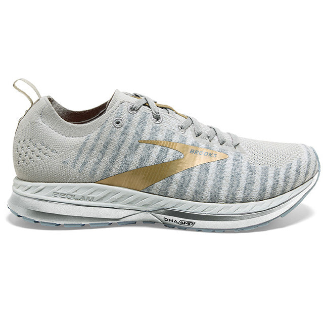 Brooks Women's Bedlam 2 Running Shoes White / Grey / Gold - achilles heel