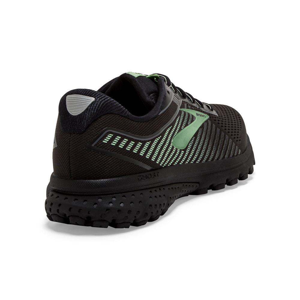 Brooks Women's Ghost 12 GORE-TEX Running Shoes Black / Ebony / Aqua - achilles heel