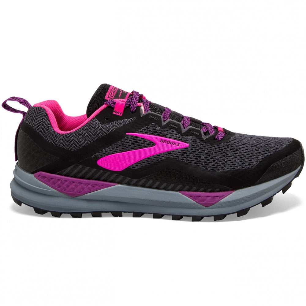 Brooks Women's Cascadia 14 Trail Running Shoes Black / Hollyhock / Pink - achilles heel