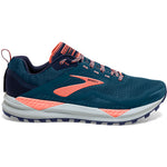 Brooks Women's Cascadia 14 Trail Running Shoes Desert Flower / Navy / Grey - achilles heel