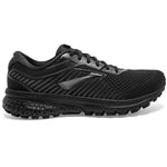 Brooks Women's Ghost 12 D Width Running Shoes Black / Grey - achilles heel