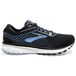 Brooks Women's Ghost 12 Running Shoes Black / Turbulence / Cornflower - achilles heel
