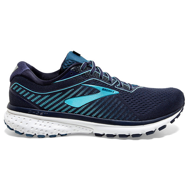 Brooks Women's Ghost 12 Running Shoes Navy / Stellar / Blue - achilles heel