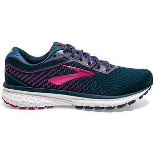 Brooks Women's Ghost 12 Running Shoes Majolica / Blue / Beetroot - achilles heel