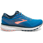 Brooks Women's Ghost 12 Running Shoes Blue / Majolica / Desert - achilles heel