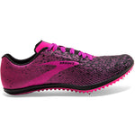 Brooks Women's Mach 19 Running Spikes Black / Hollyhock / Pink