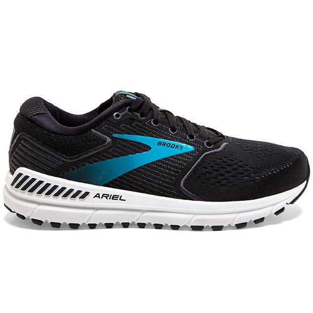 Brooks Women's Ariel 20 Running Shoes Black / Ebony / Blue - achilles heel