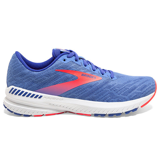 Brooks Women's Ravenna 11 Running Shoes Cornflower / Blue / Coral - achilles heel