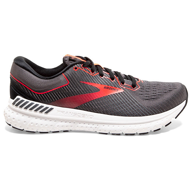 Brooks Women's Transcend 7 Running Shoes Black / Ebony / Coral - achilles heel