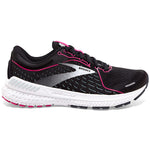 Brooks Women's Adrenaline GTS 21 Running Shoes Black / Raspberry Sorbet / Ebony - achilles heel