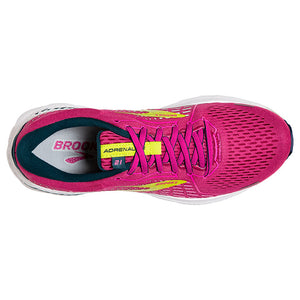 Brooks Women's Adrenaline GTS 21 Running Shoes Raspberry / Pink / Sulphur - achilles heel