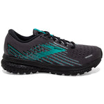Brooks Women's Ghost 13 GORE-TEX Running Shoes Black / Black / Peacock - achilles heel