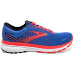 Brooks Women's Ghost 13 Running Shoes Blue / Coral / White - achilles heel