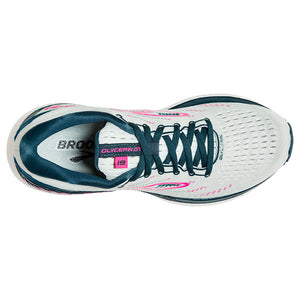 Brooks Women's Glycerin GTS 19 Running Shoes Ice Flow / Navy / Pink - achilles heel