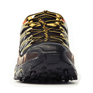 La Sportiva Men's Ultra Raptor Trail Running Shoes Black & Yellow - achilles heel