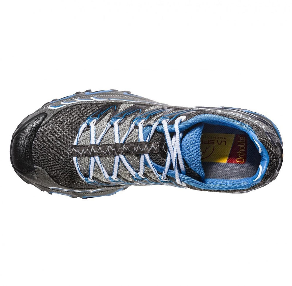 La Sportiva Women's Ultra Raptor Trail Running Shoes Carbon /  Cobalt Blue - achilles heel