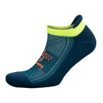 Balega Hidden Comfort Running Socks Light Green / Blue / Teal - achilles heel