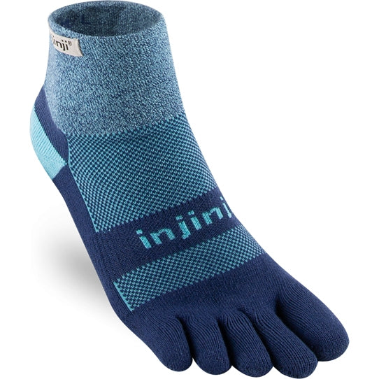Injinji Women's Trail Midweight Mini-Crew Socks Twilight