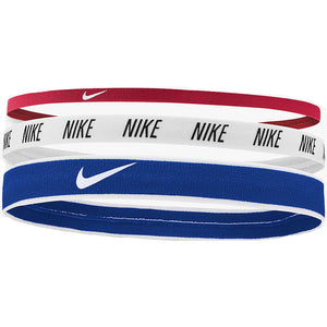 Nike Mixed Width Headbands Blue White & Red - achilles heel