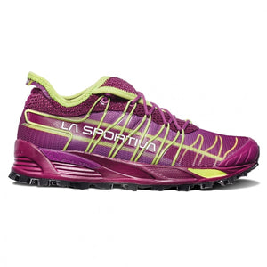 La Sportiva Women's Mutant Fell Running Shoes Plum /  Apple Green - achilles heel